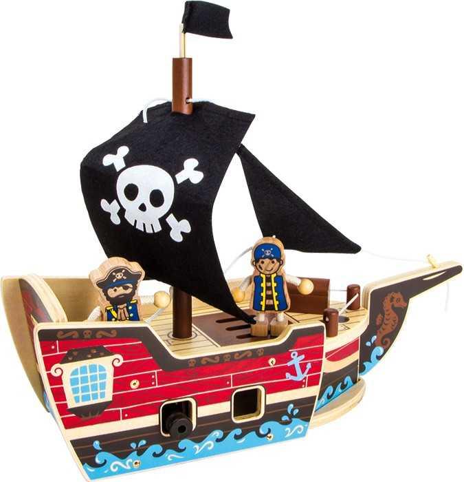 Small Foot Stavebnica Pirátska loď