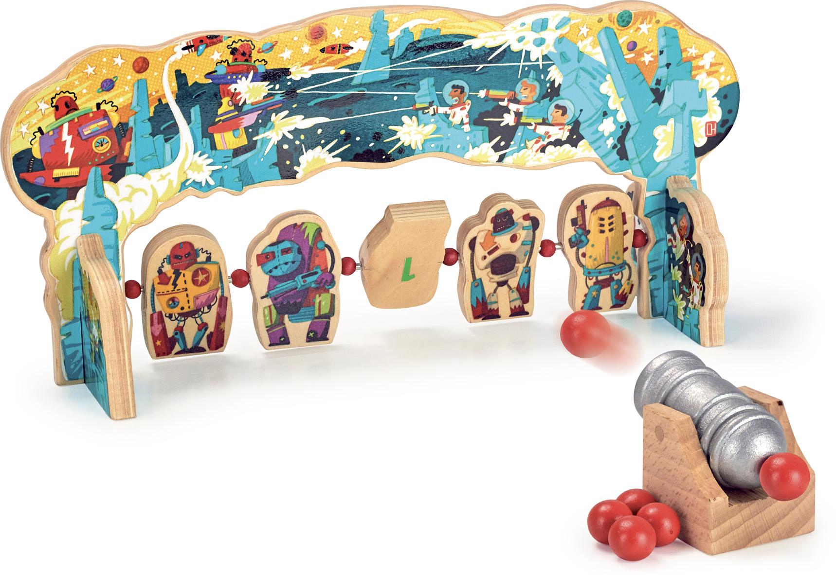 Vilac - Dřevěná hra - Útok robotů