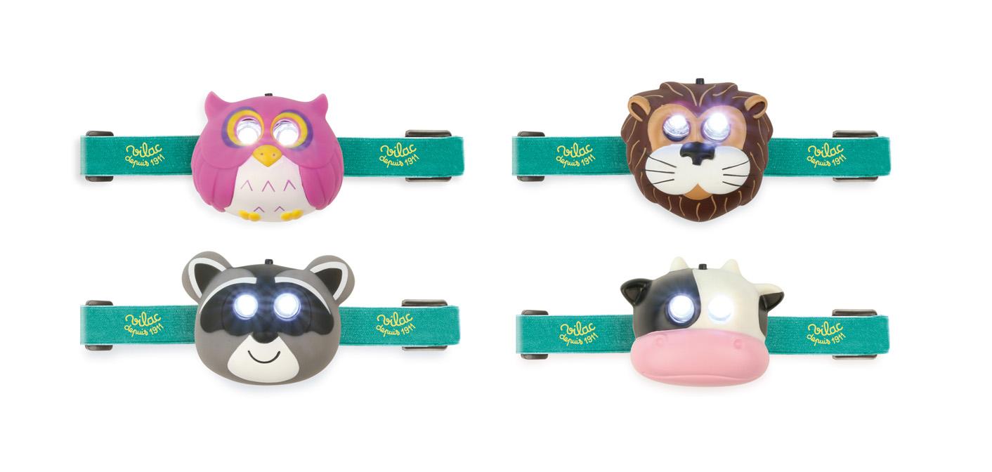 Vilac LED čelovka zvířátka 1ks - Kravička