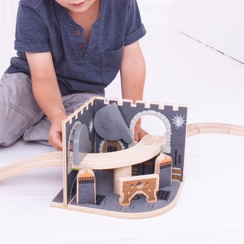 Dřevěná vláčkodráha Bigjigs Rail - Žalář