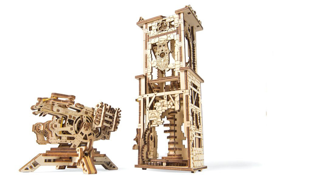 Ugears Drevená stavebnica 3D mechanické Puzzle Veža - Archballista