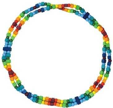 Detoa Dětský náhrdelník duhový