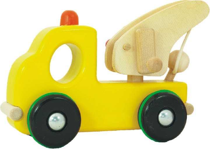 Dřevěné hračky - Nákladní auto odtahová služba s hákem