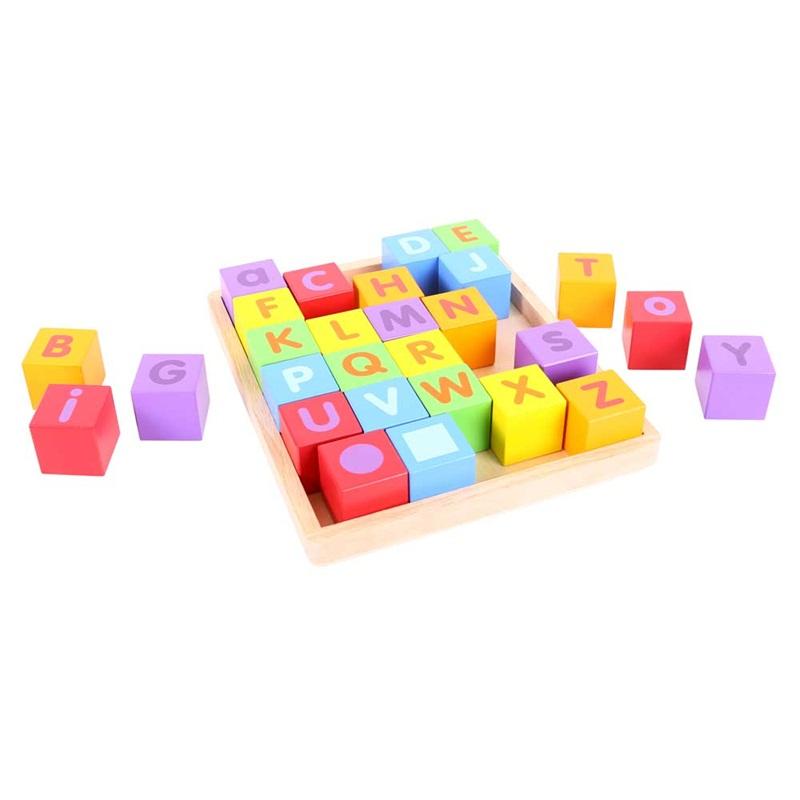 Dřevěná hračka - Dřevěné kostky s abecedou
