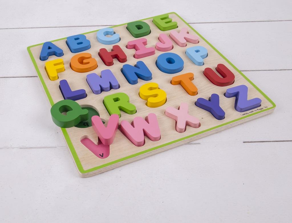 Drevená vzdelávacia hračka - Abeceda