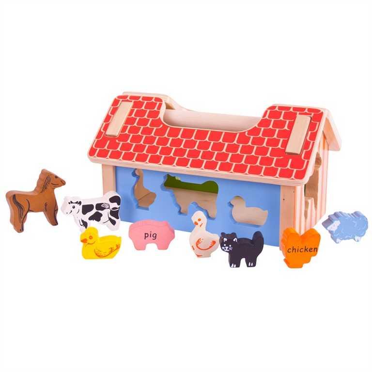Bigjigs Baby Vkládací farma se zvířátky