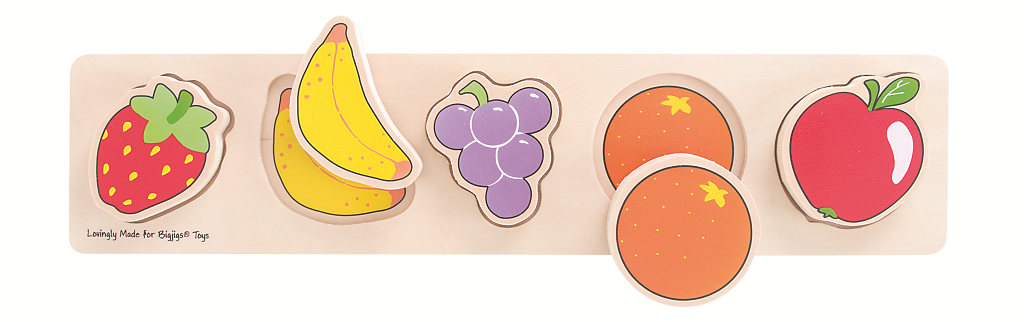 Dřevěné vkládací puzzle - Ovoce