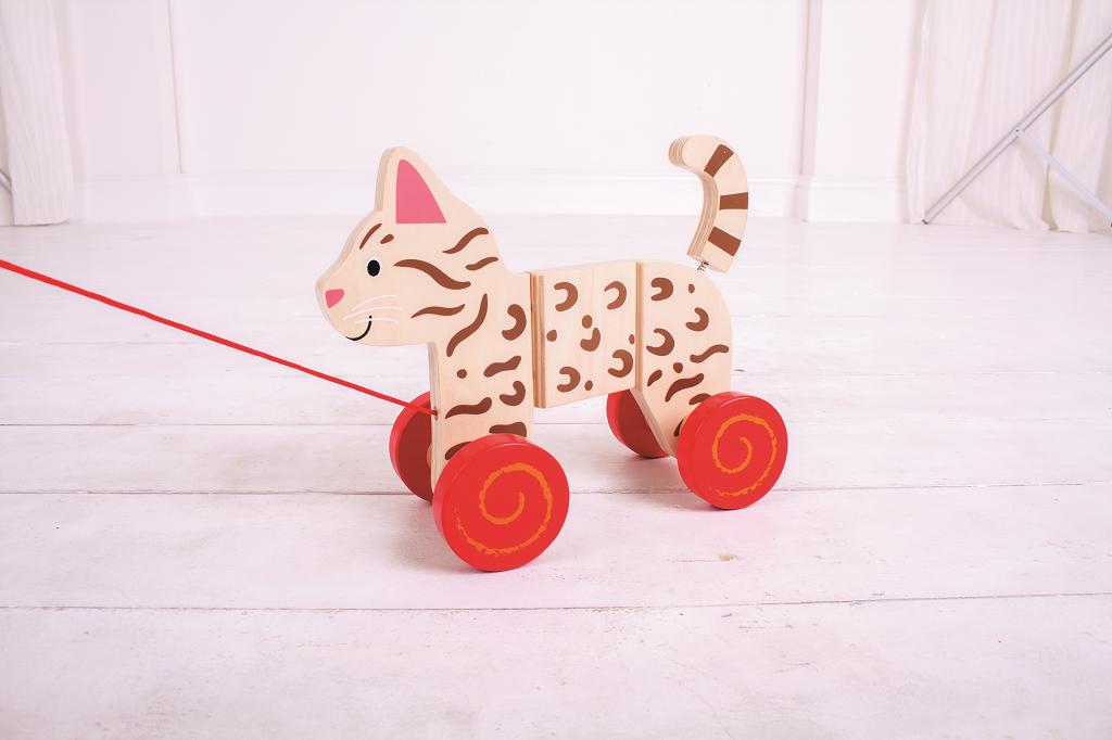 Bigjigs Toys tahací hračka - Kočka