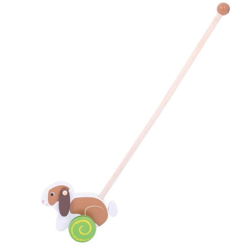 Bigjigs Toys Dřevěný jezdík Králíček