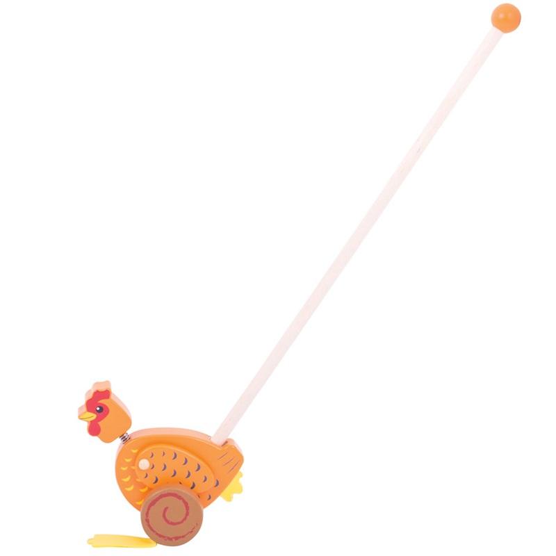 Bigjigs Toys Dřevěný jezdík Slepička