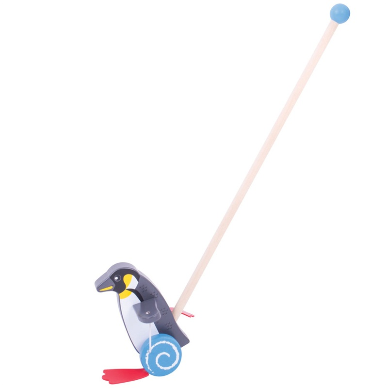 Bigjigs Toys Dřevěný jezdík Tučňák