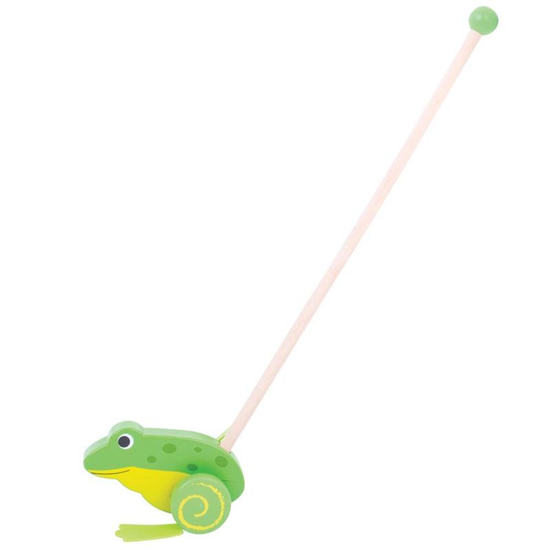 Bigjigs Toys Dřevěný jezdík Žabička