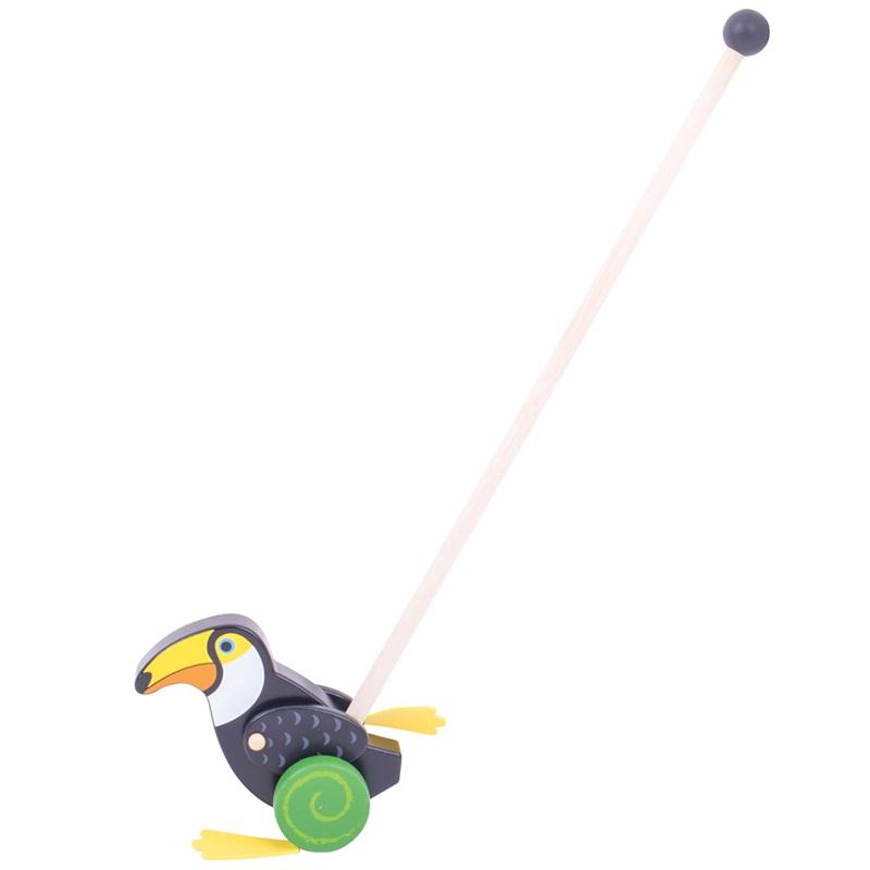 Bigjigs Toys Dřevěný jezdík Tukan