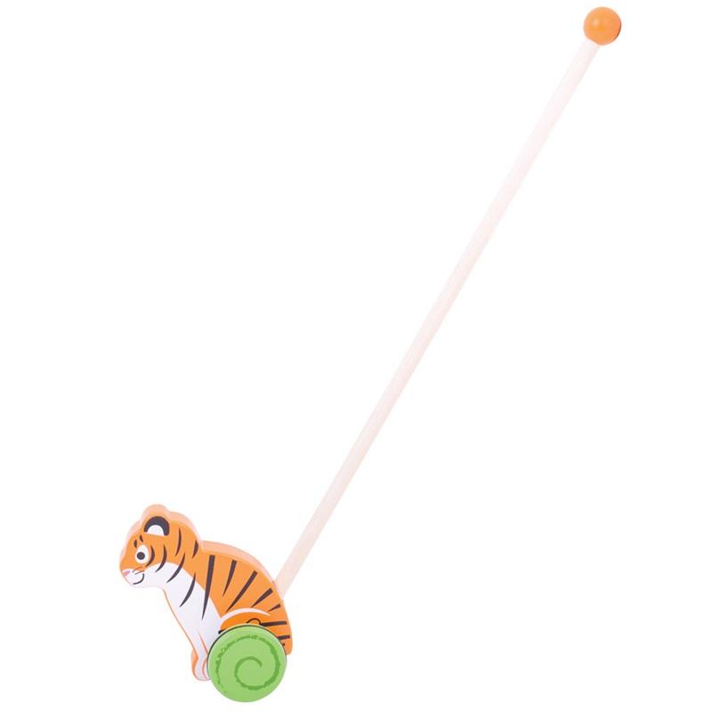 Bigjigs Toys Dřevěný jezdík Tygr