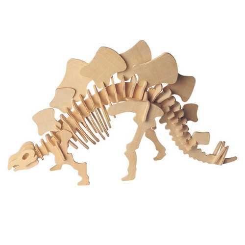 Dřevěné 3D puzzle dinosauři - velký Stegosaurus BJ002