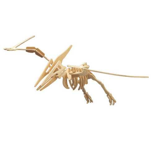 Dřevěné 3D puzzle dinosauři - velký Pteranodon BJ007