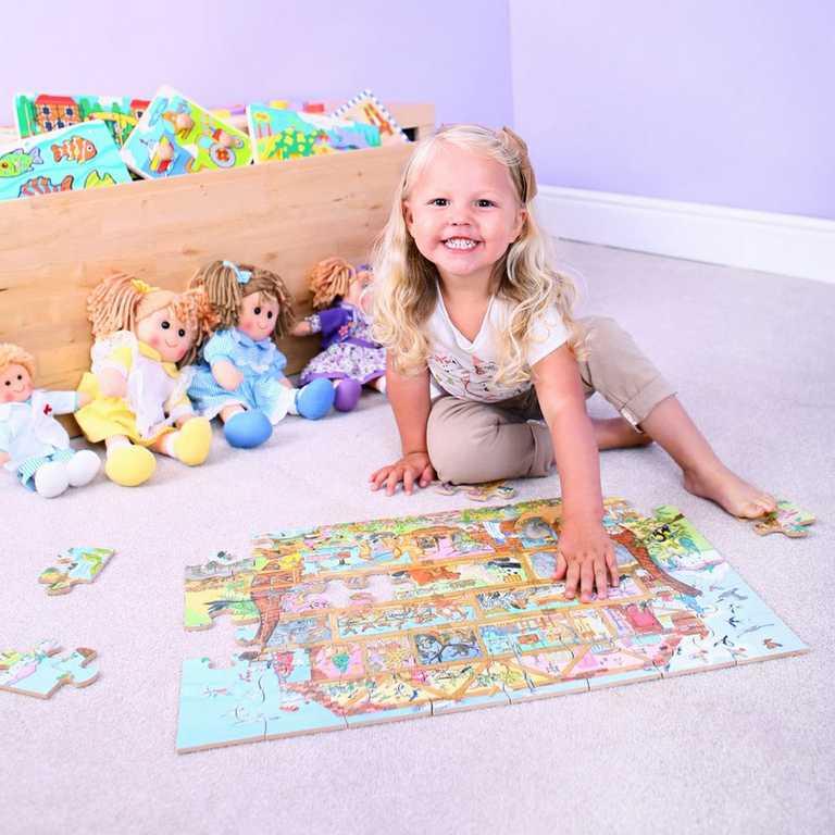 Dřevěné hračky - Puzzle Noemova archa 24 dílků
