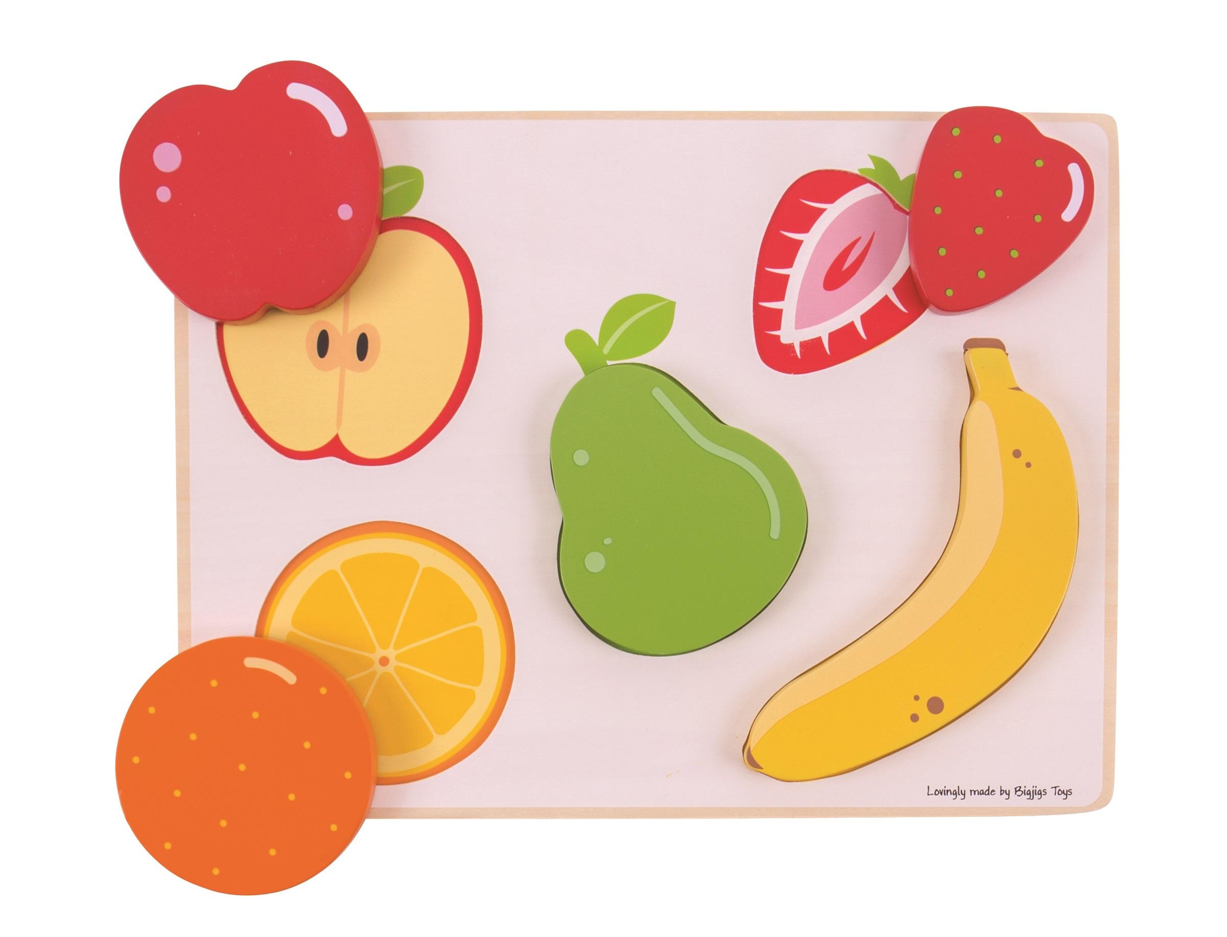 Bigjigs Toys vkládací puzzle - Ovoce