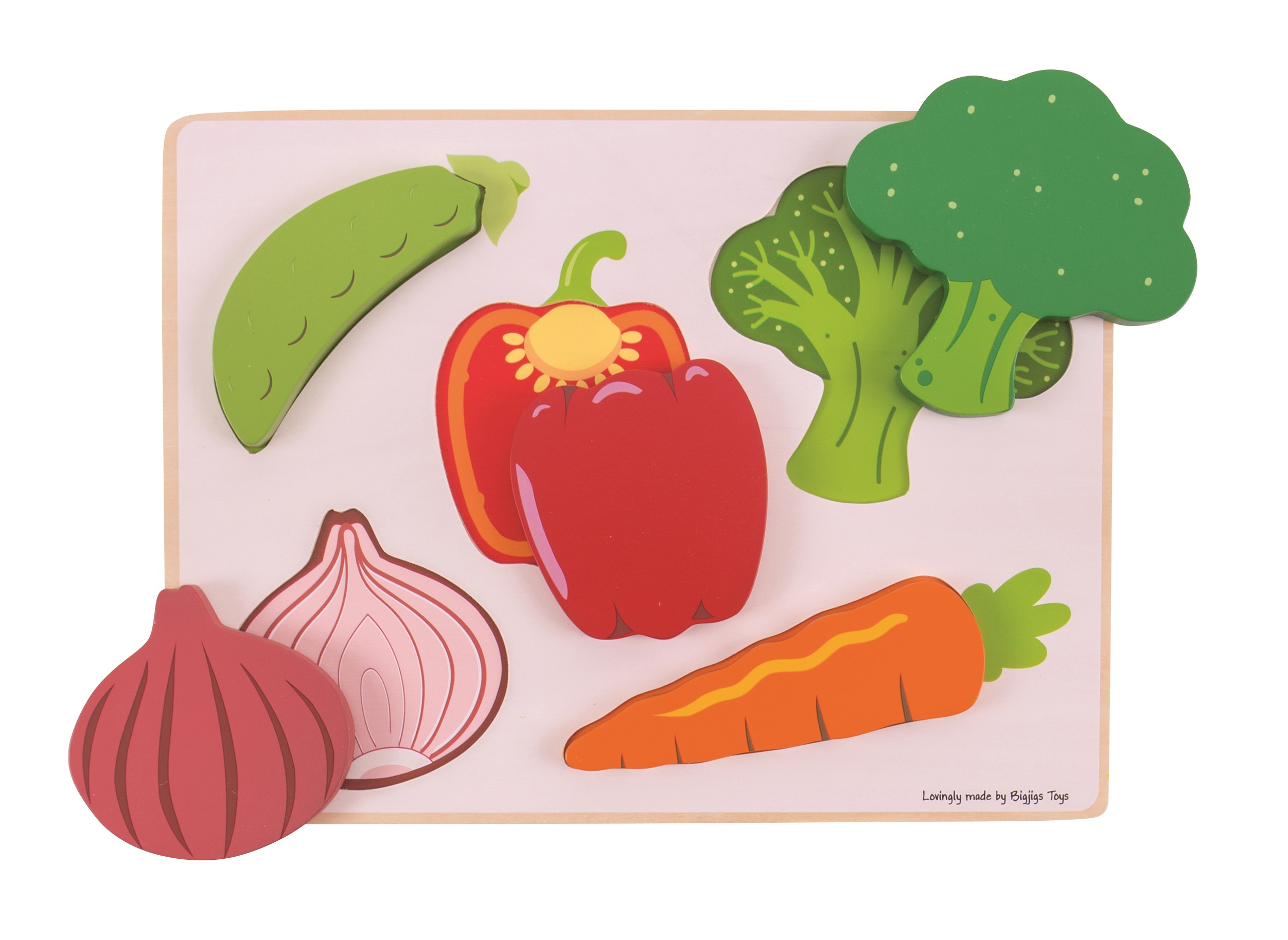 Bigjigs Toys vkládací puzzle - Zelenina