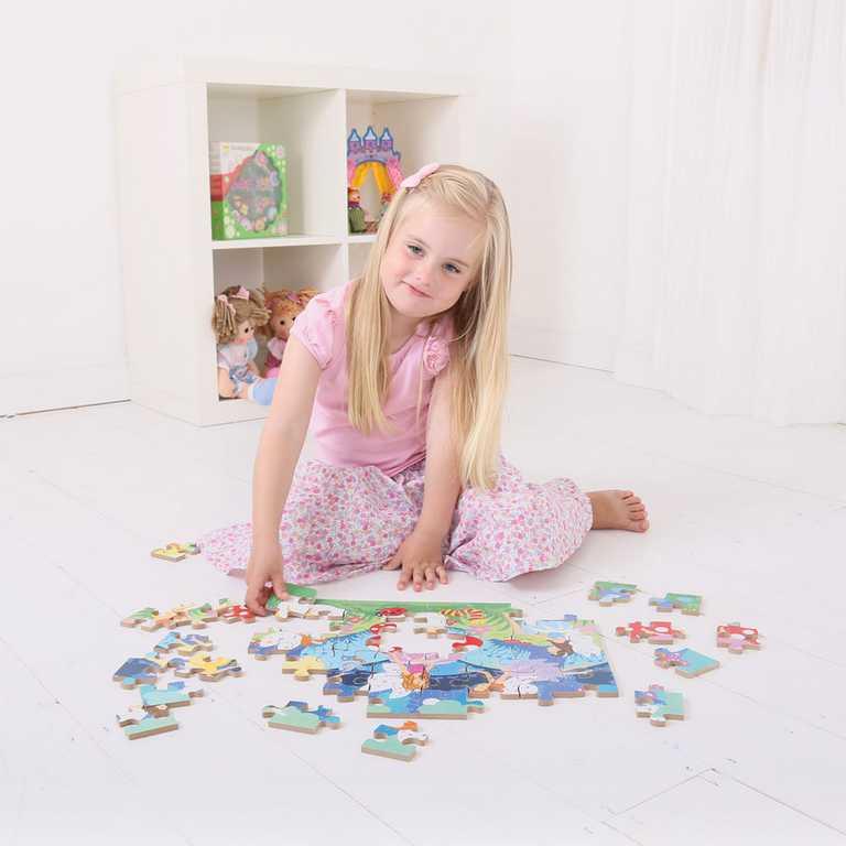 Bigjigs Toys dřevěné puzzle - Víly - 48 dílků
