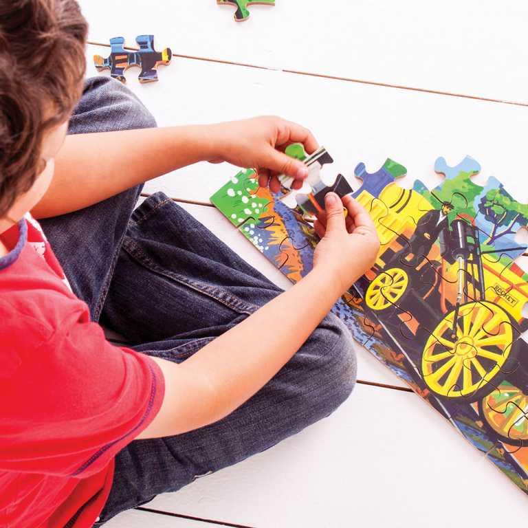 Bigjigs Toys puzzle - Historický vlak The Rocket  - 48 dílků