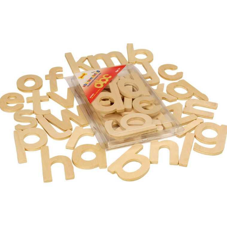Dřevěná tiskací abeceda- malá písmena