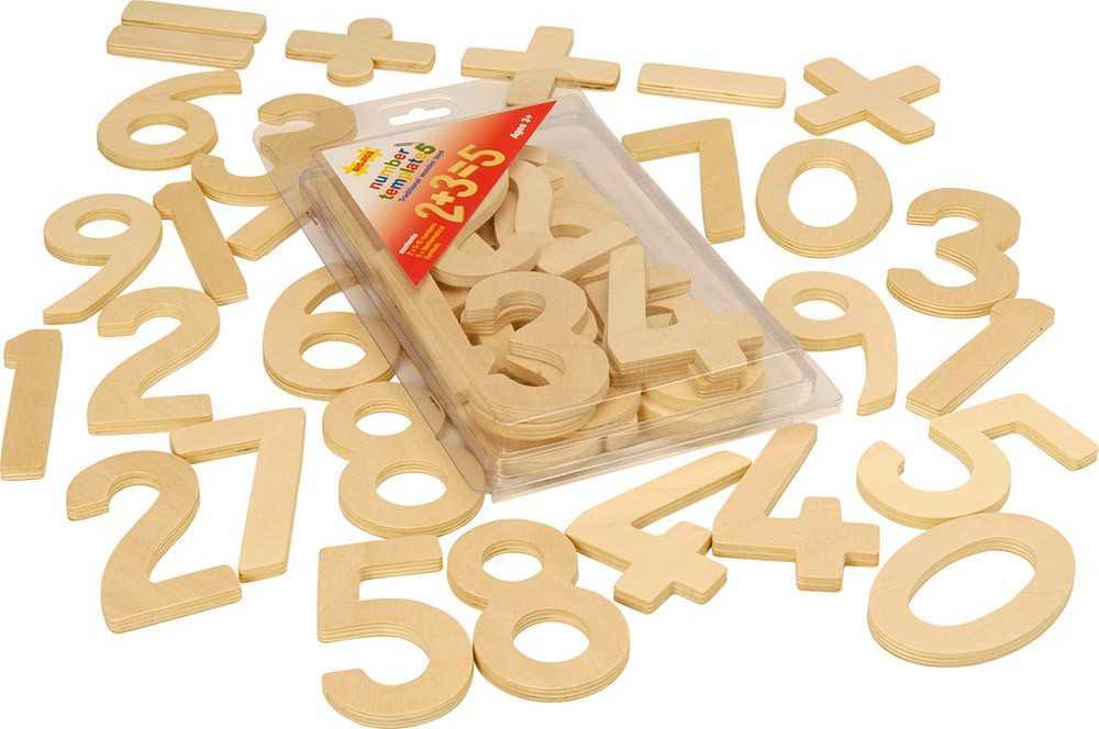 Dřevěné hračky - Školní pomůcky - Číslice a počítání