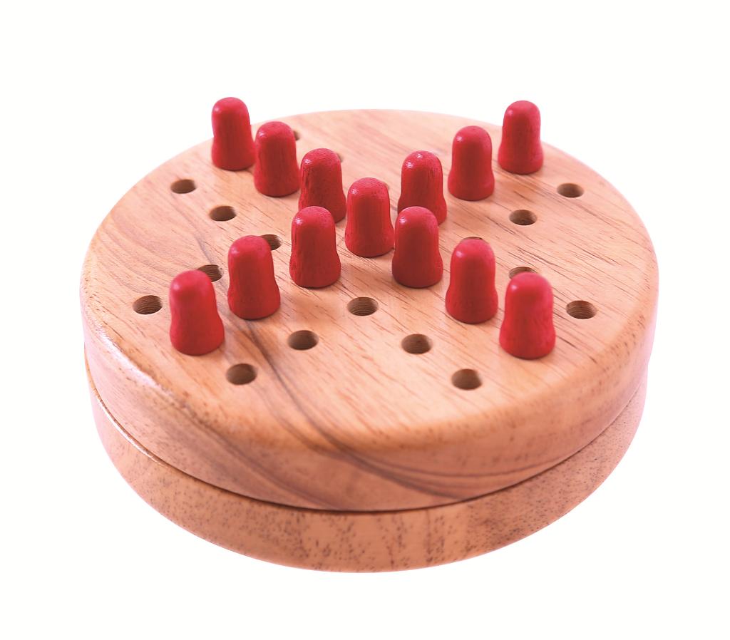 Bigjigs Toys dřevěné hry - Mini solitaire