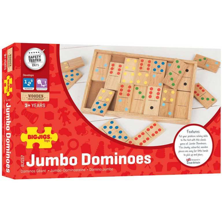 Bigjigs - Velké dřevěné domino