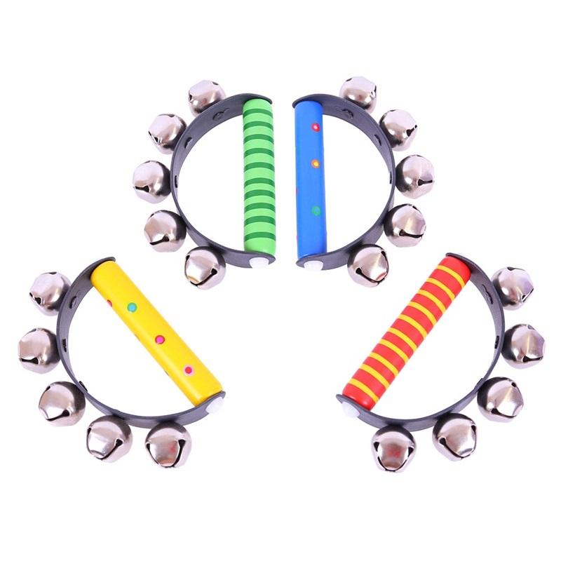 Bigjigs Dětské hudební nástroje - Rolničky 1ks  modrá