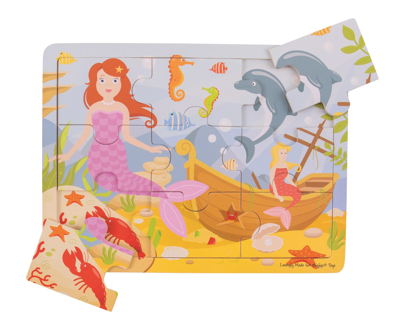 Bigjigs Toys puzzle - Mořská panna