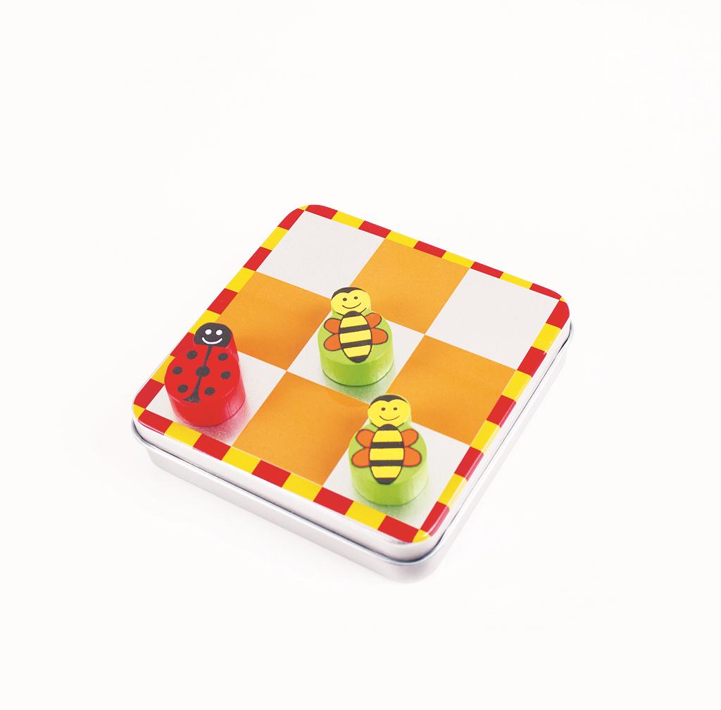Bigjigs Toys magnetické piškvorky zvířátka 2 druhy