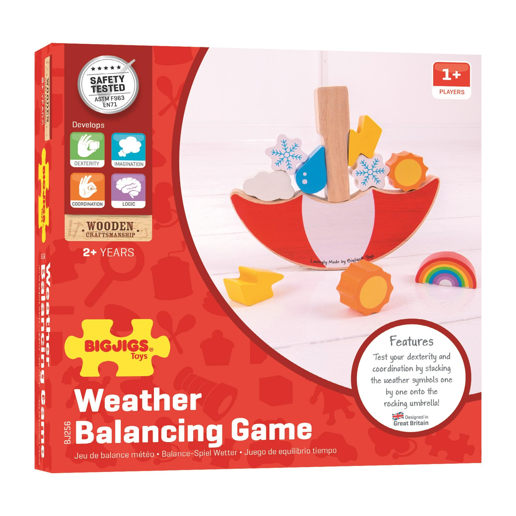 Bigjigs Toys Balančná hra Počasie