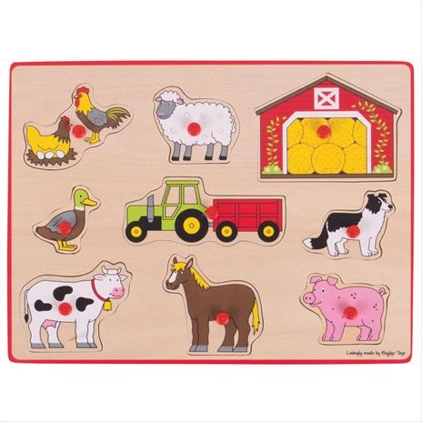 Bigjigs Toys Vkladacie puzzle farma