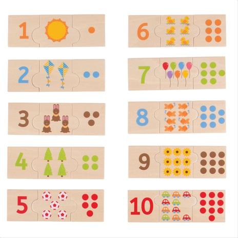 Bigjigs Toys Edukatívne puzzle počítanie