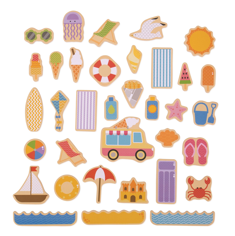 Bigjigs Toys - magnetky prázdniny u moře