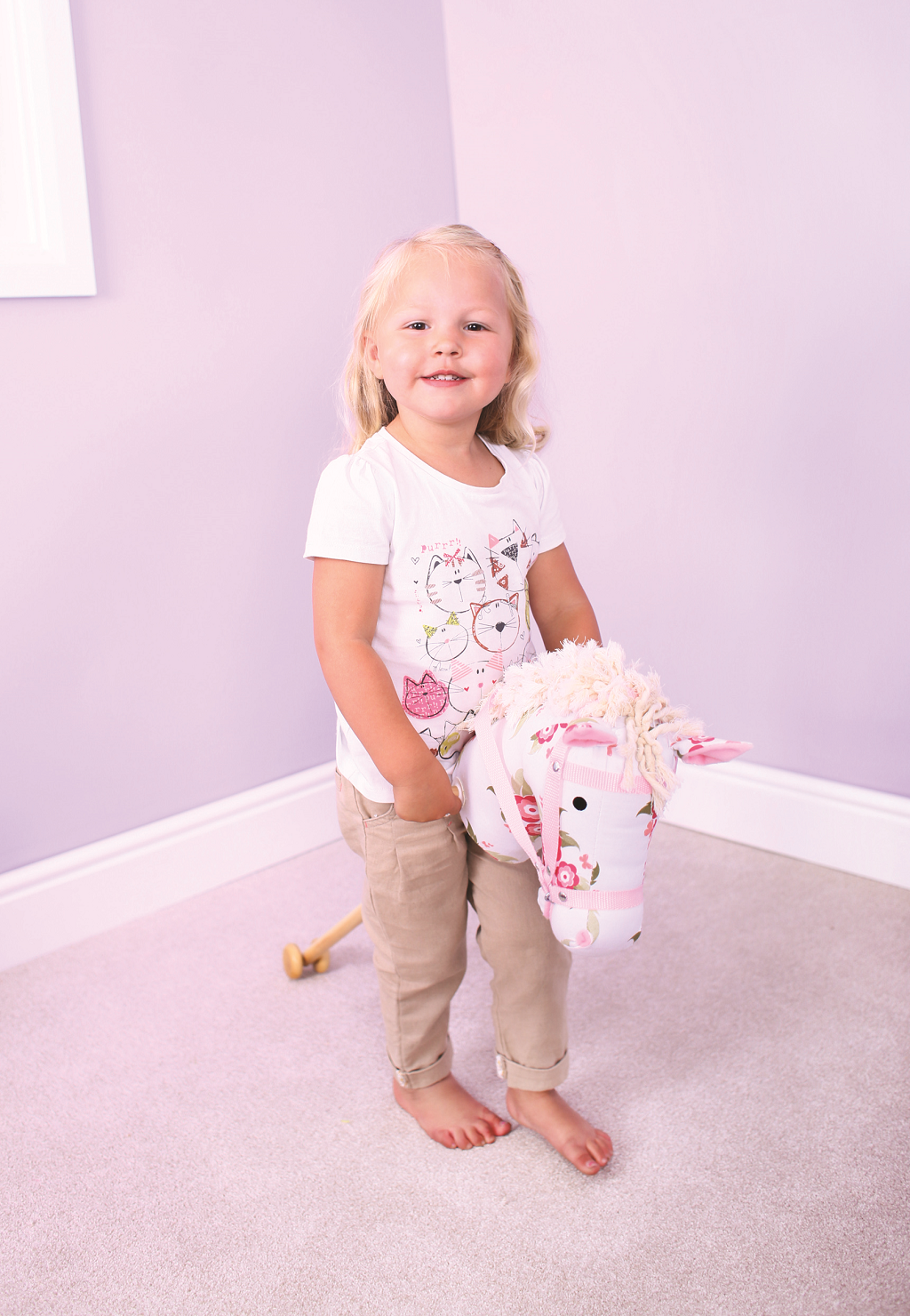 Bigjigs Toys Růžový kůň na tyči