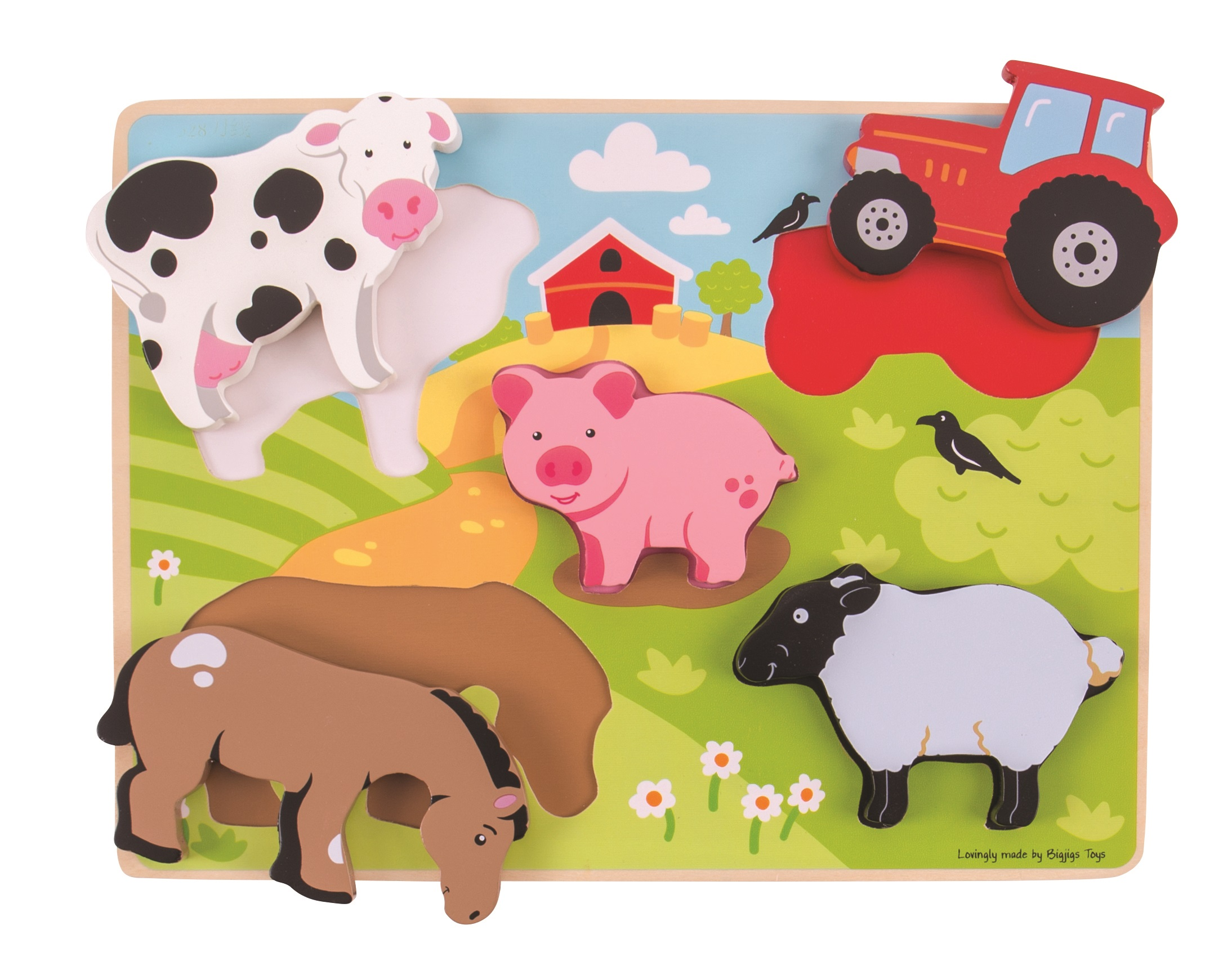 Bigjigs Toys vkládací puzzle - Farma