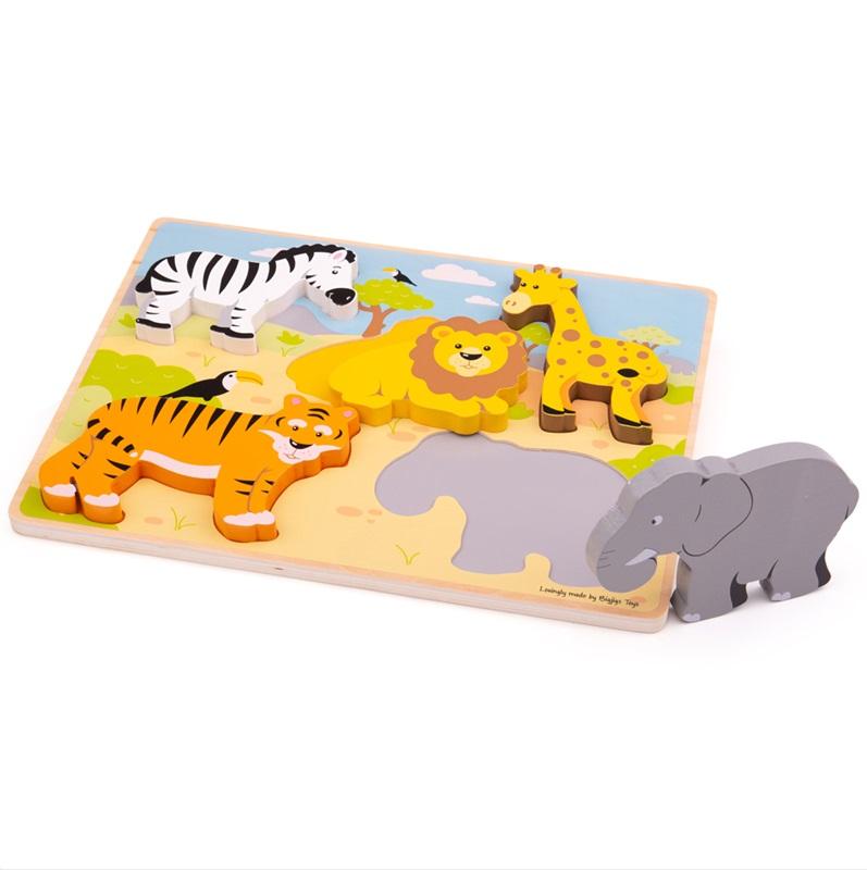Bigjigs Toys vkládací puzzle - Safari