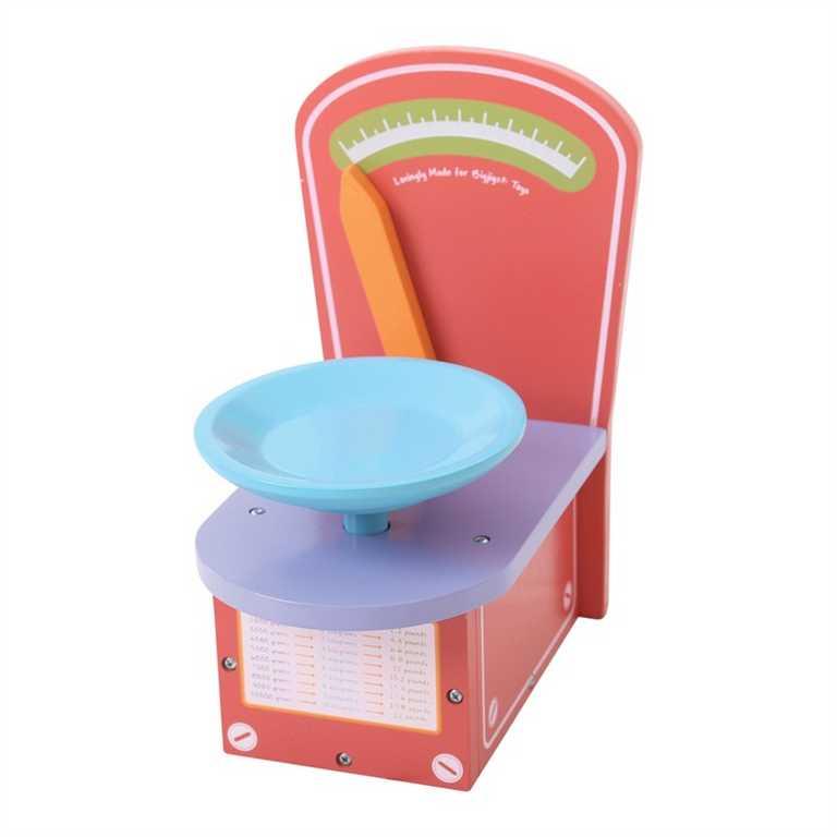 Bigjigs Toys dřevěná kuchyňská váha