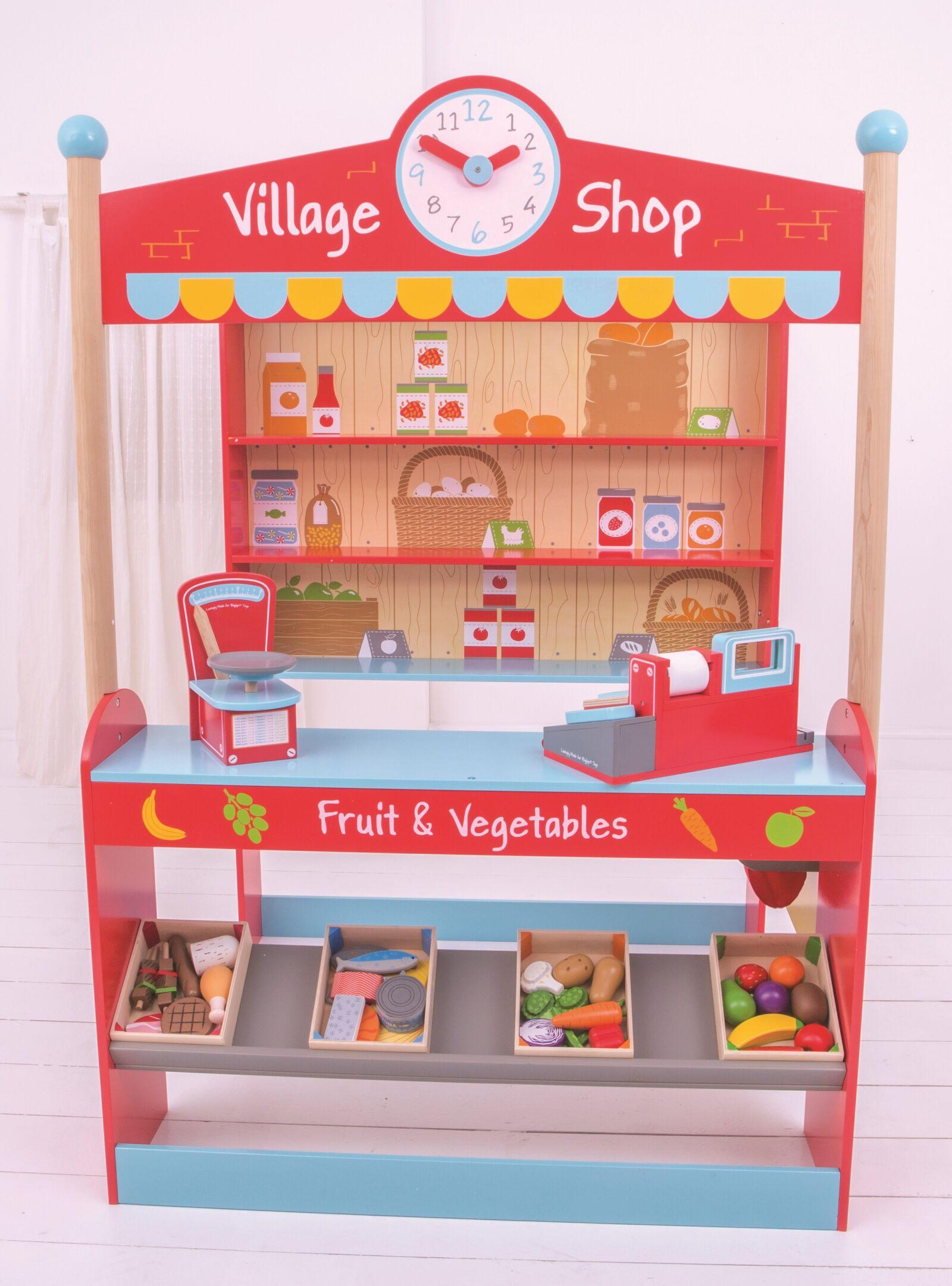 Bigjigs Toys Village detský obchod