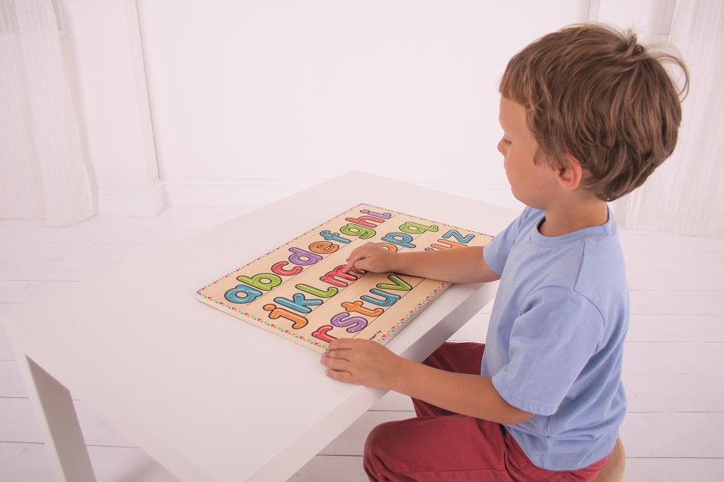 Dřevěná didaktická hračka - Uč se psát