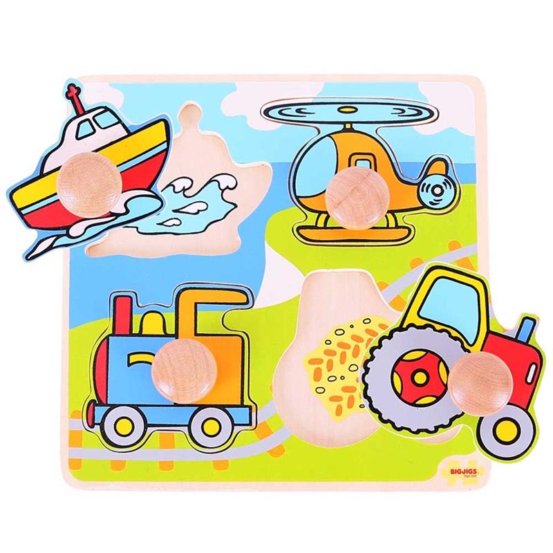 Bigjigs Toys Vkladacie puzzle doprava
