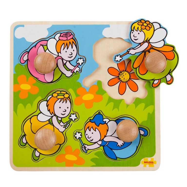 Bigjigs Toys  Vkládací puzzle - Víly