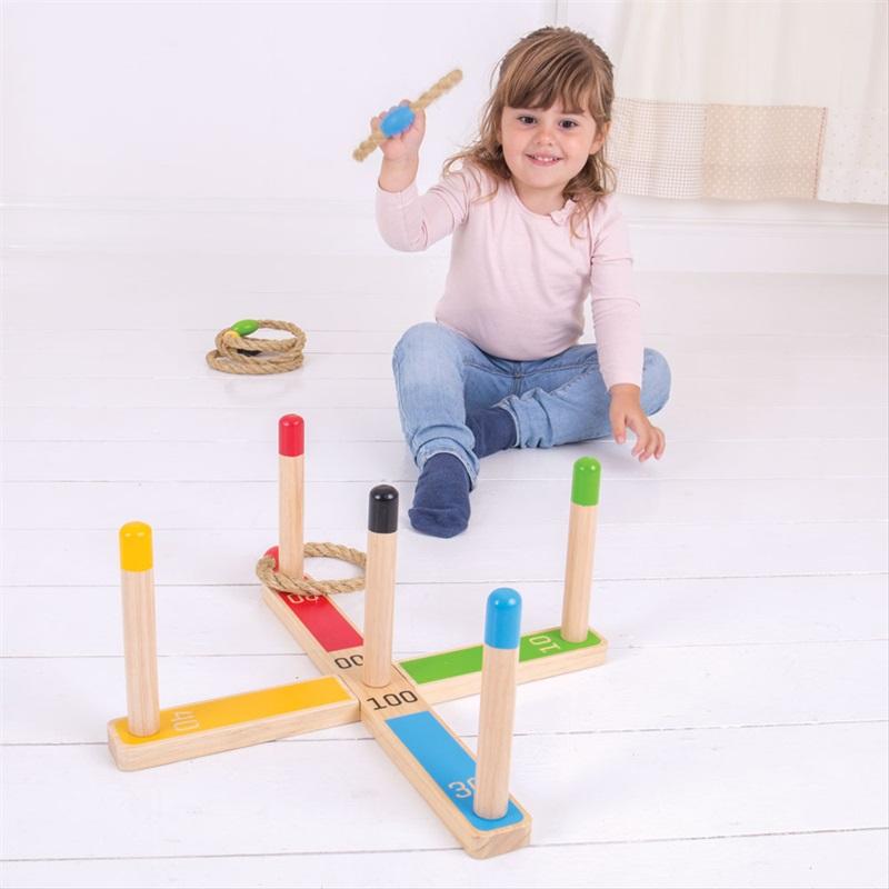 Bigjigs Toys hra - Házení kruhů