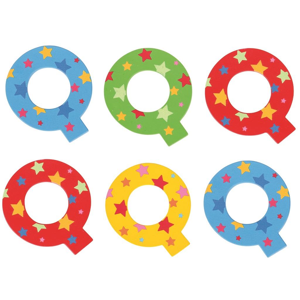 Bigjigs Toys hvězdičkové písmenko Q