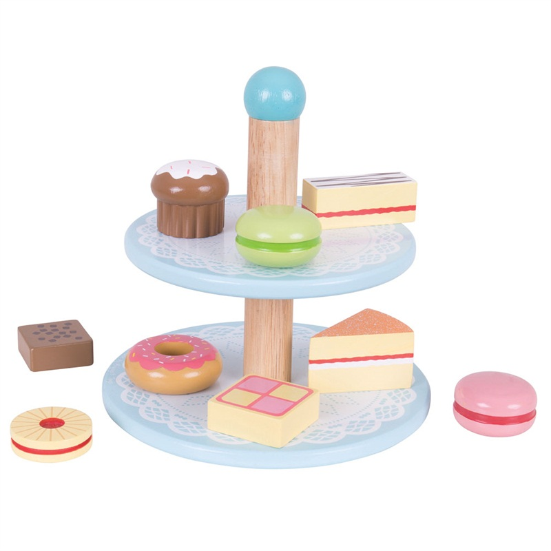 Bigjigs Toys Dřevěné hračky - Stojan s dortíky