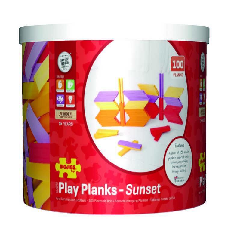 Bigjigs hrací desky Západ slunce 100 dílů