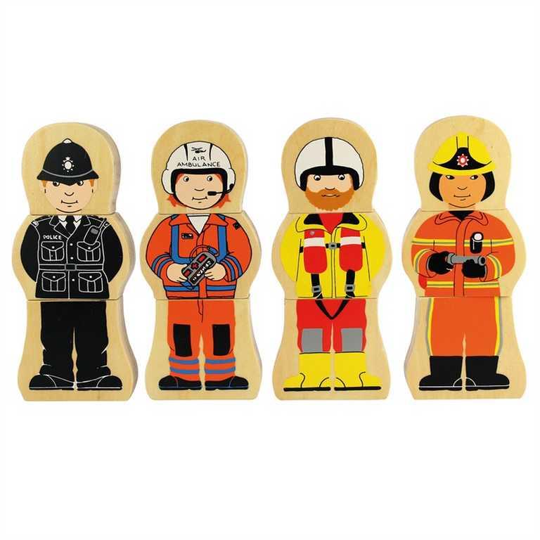 Bigjigs Toys dřevěné puzzle - Profese
