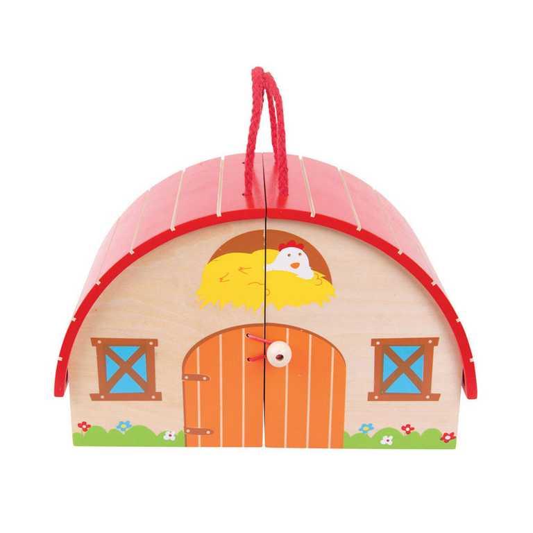 Bigjigs Toys dřevěná hračka - Hrací set Farma